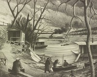 Home on the River Cairo, H. O. Robertson, lithograph