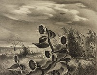 Meadow Wind, Charles Bowling, lithograph