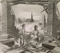 My Brother's Keeper, Merritt Mauzey, lithograph