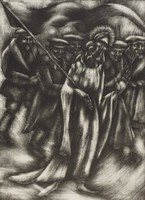 Christ Marches on and Twelve are Led, George Biddle, lithograph