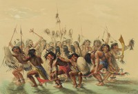 The Scalp Dance, George Catlin, lithograph