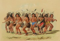 The Bear Dance, George Catlin, lithograph