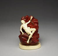 Andromeda Chained to a Rock, Germany, ivory, amber, silver