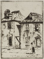 The Pirate Houses, Minnie Robertson Mikell, etching