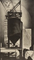 Tanks #1, Louis Lozowick, Printed by George C. Miller, lithograph