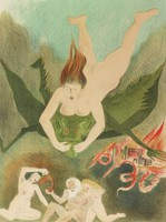 nude woman, mythical creature