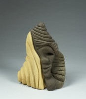 Mystery of the White in Me, Lonnie Holley, pigmented sandstone