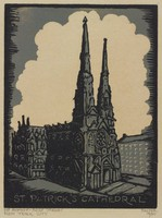 St. Patrick's Cathedral, Lucy Jane Salter, woodcut