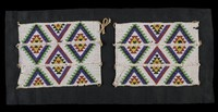 Pair of Leggings (Amadavathi), Zulu people, Nongoma area, South Africa, African, glass beads, string, and thread